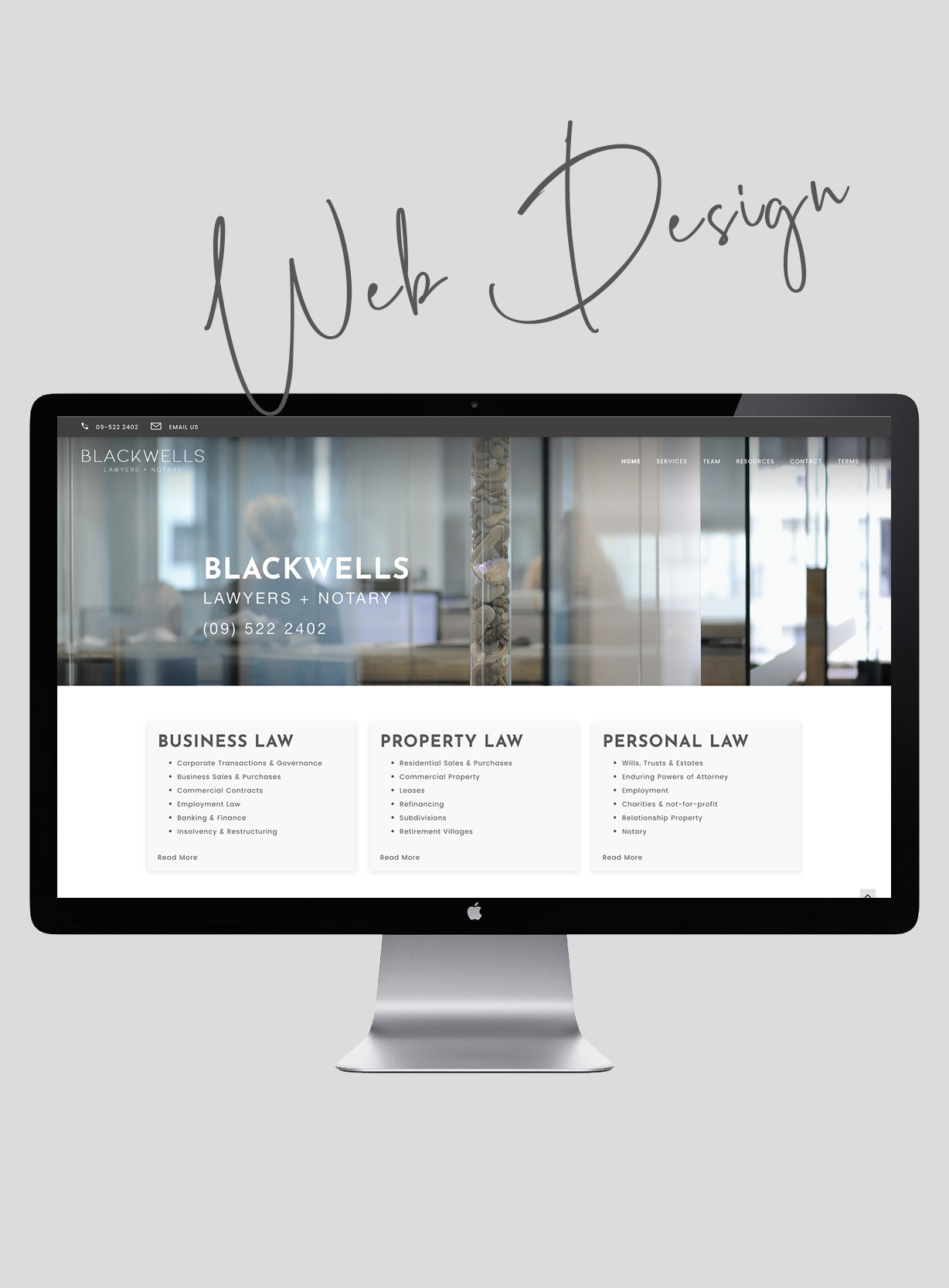 Web Design Auckland Blackwells Law Firm Website