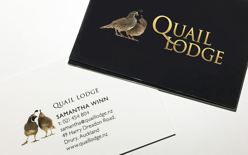 Quail Lodge Branding - logo and business cards