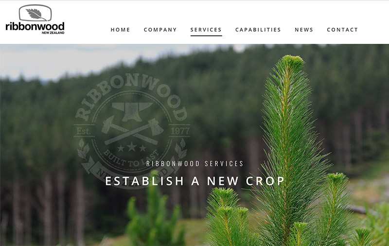 Web Design Auckland - Ribbonwood Forestry website